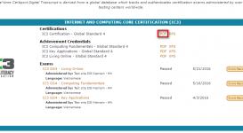Hướng dẫn xem điểm thi và tải chứng chỉ IC3 GS4